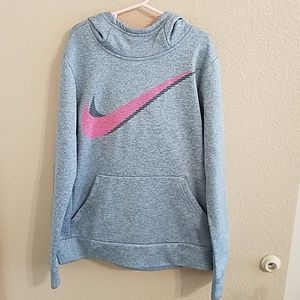 Nike Dri Fit Girls Hooded Sweatshirt Size M